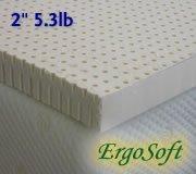 Natural Latex Foam Mattress Pad Topper - 2-inch Medium-Firm 5.3 lbs. latex foam