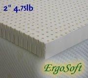 2 Inch ErgoSoft Natural Latex Foam Mattress Pad Topper